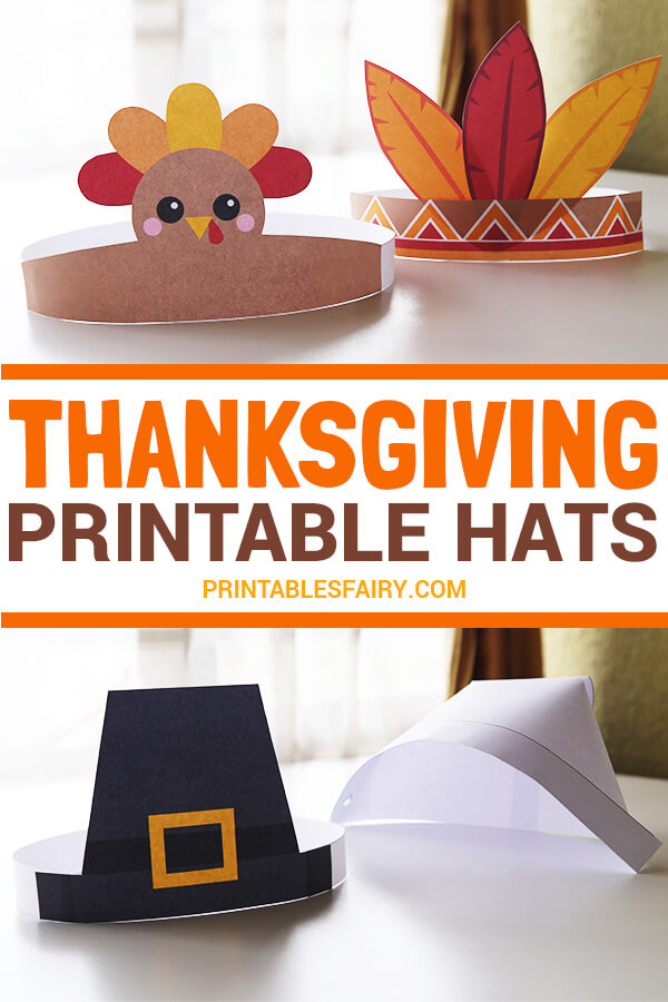 Thanksgiving Free Printable Hats