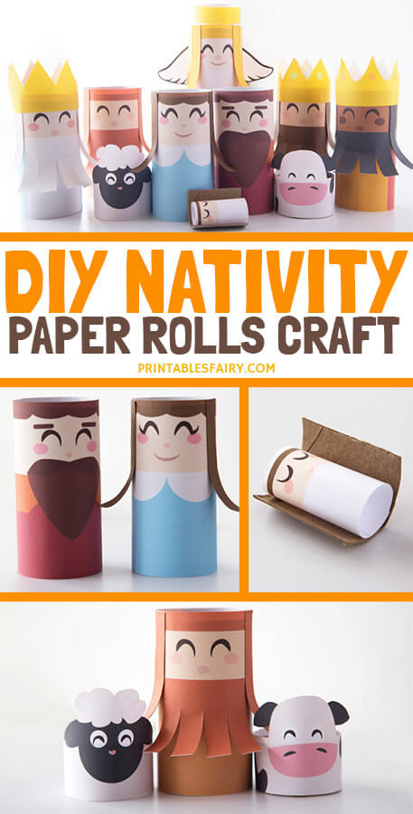 Toilet paper roll Nativity