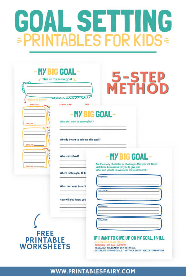 Goal Setting Printables for Kids