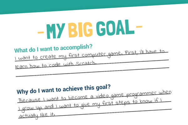 Help your kids pick their goal