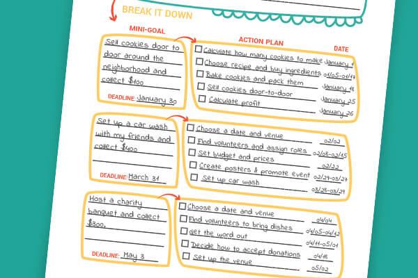 Set deadlines for your goals