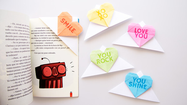 Conversation Heart Bookmarks