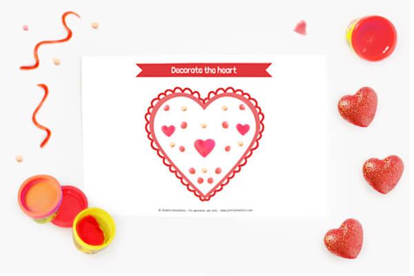 Heart Play Dough Mat
