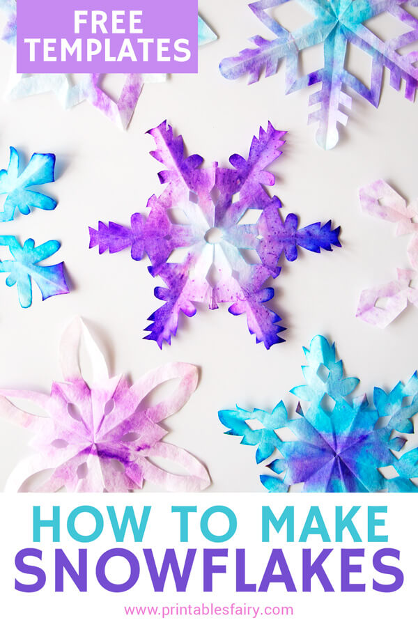 How to make snowflakes with free templates