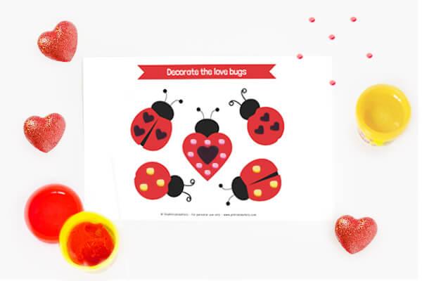 Love Bugs Play Dough Mat