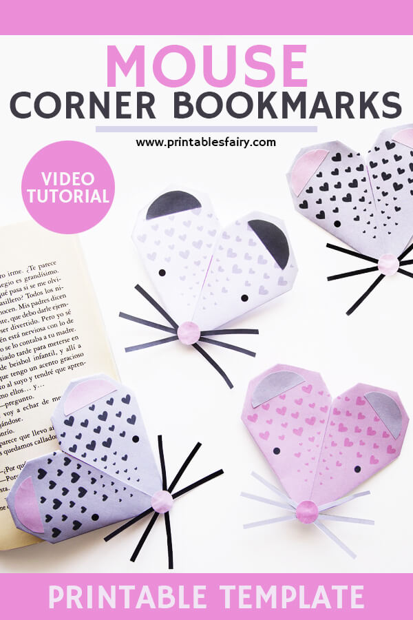 Mouse Corner Bookmark Templates