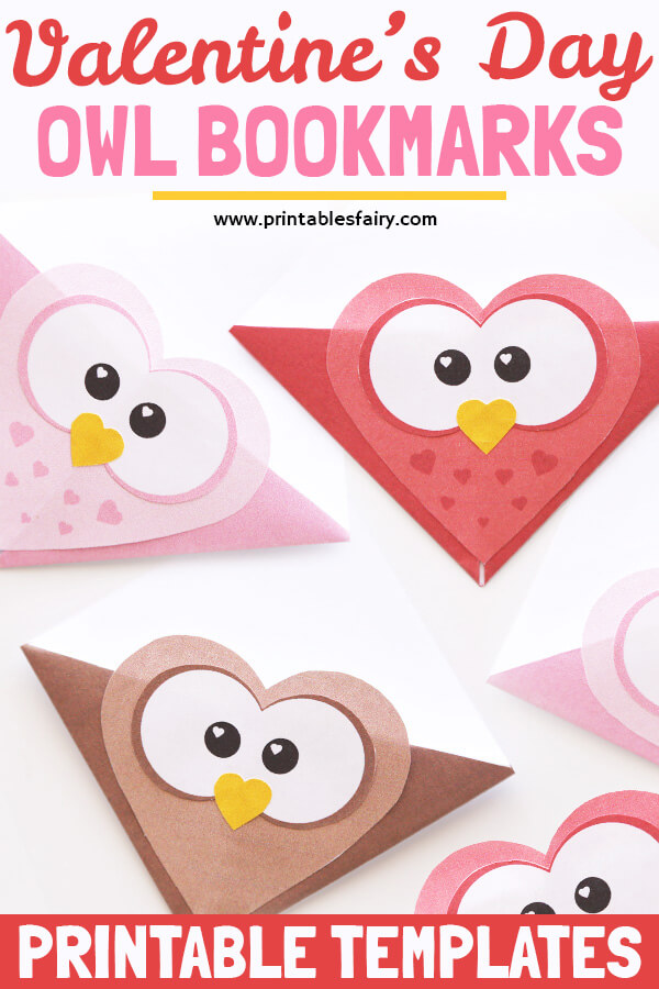Valentine's Day Owl Bookmarks