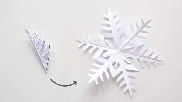 Unfolded snowflake