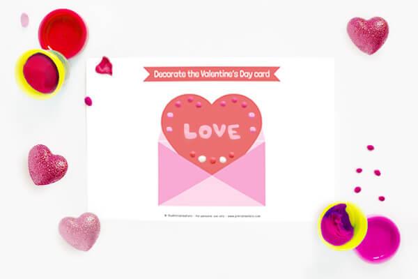 Valentine's Day Card Playdough mat