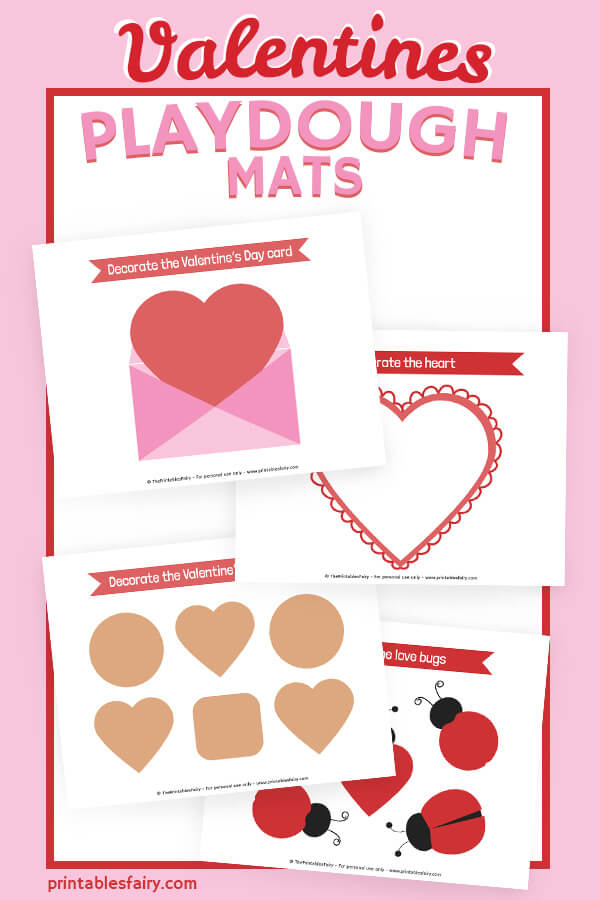 Valentine's Day Play Dough Mats