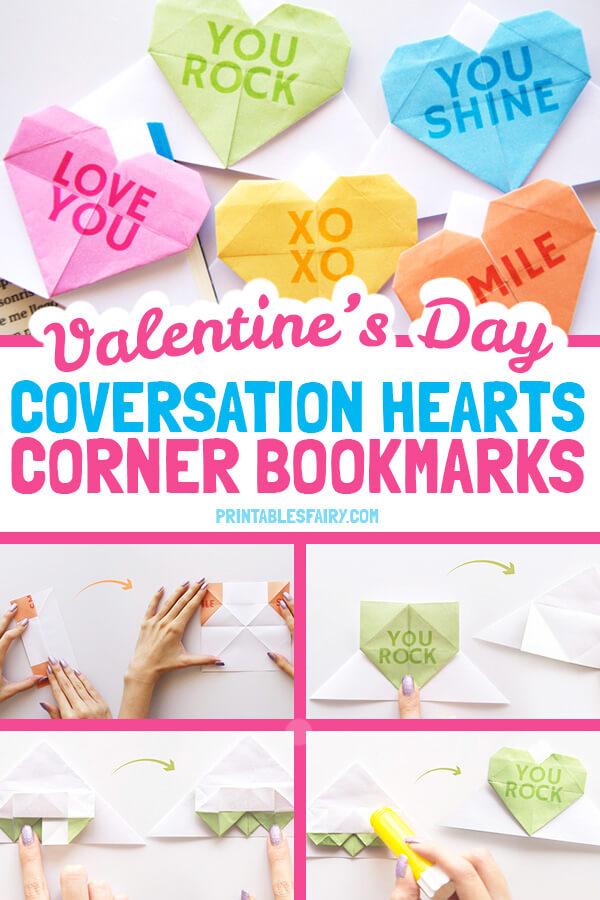 Valentine's Day Corner Bookmarks