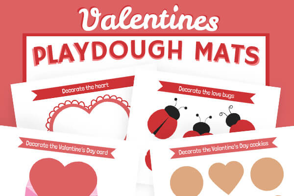 Valentine Playdough Mats
