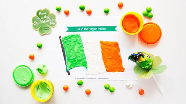 Irish Flag Playdough Mat