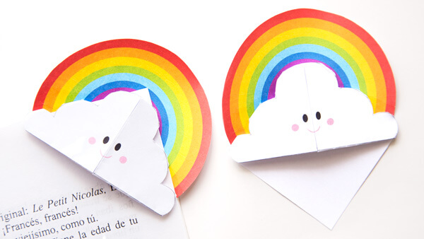 DIY Rainbow Bookmarks