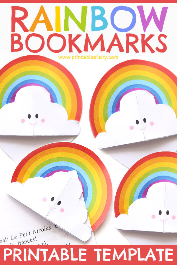 DIY Rainbow Corner Bookmarks