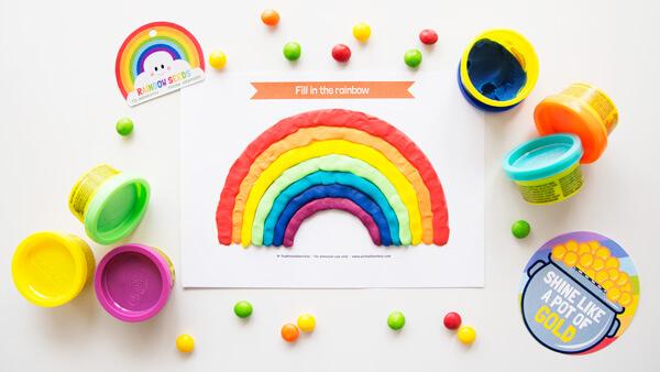 Rainbow Playdough Mat