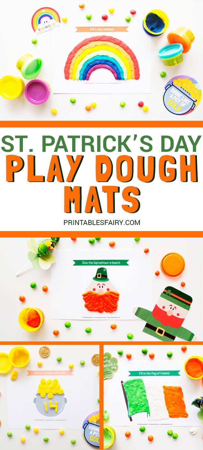 St Patrick Playdough Mats