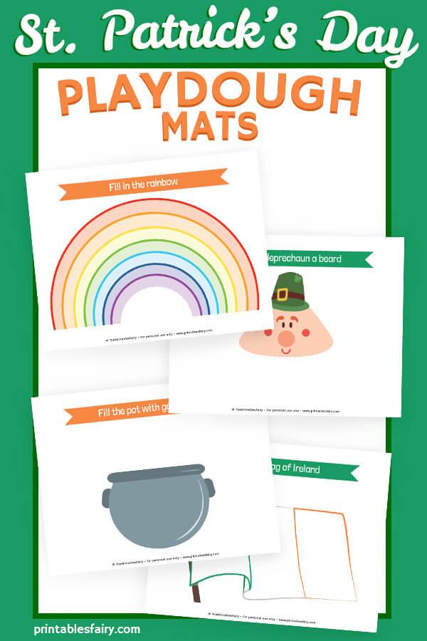 St. Patricks day Play Dough Mats