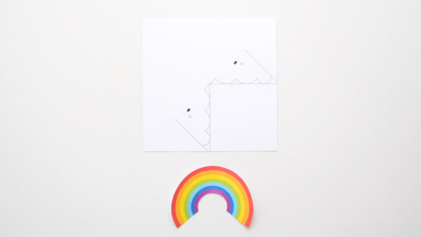Cut the rainbow template