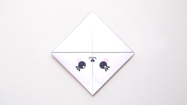 Fold the left and right corners to the top