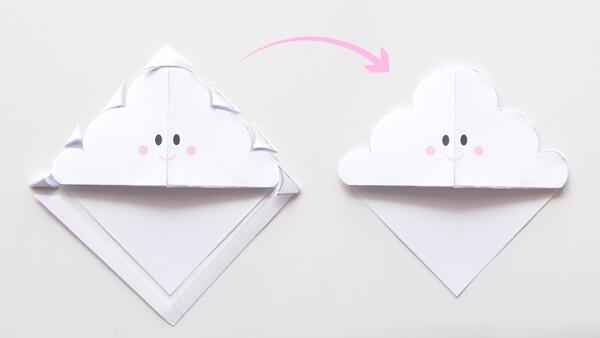 Cut out the cloud shape