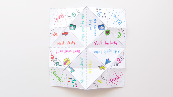 Fill in your cootie catcher