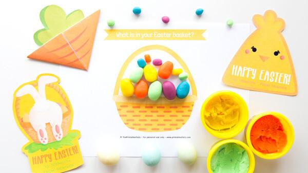 Easter basket playdough mat