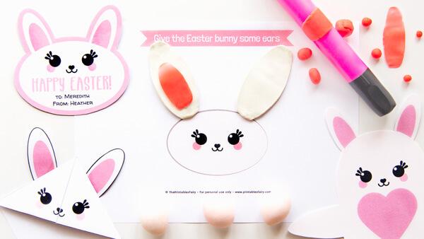 Easter bunny playdough mat