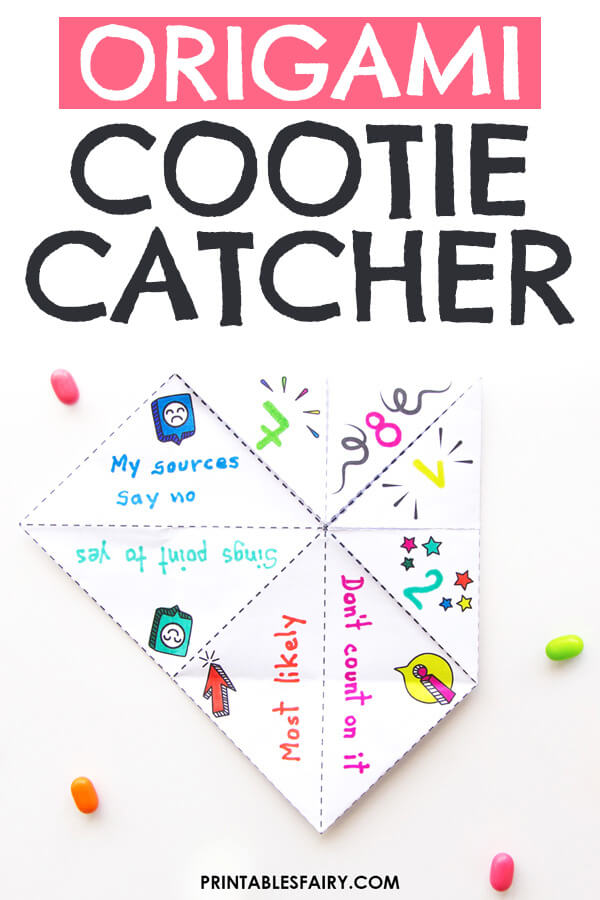 Origami Cootie Catcher - Fortune teller - YouTube | 900x600