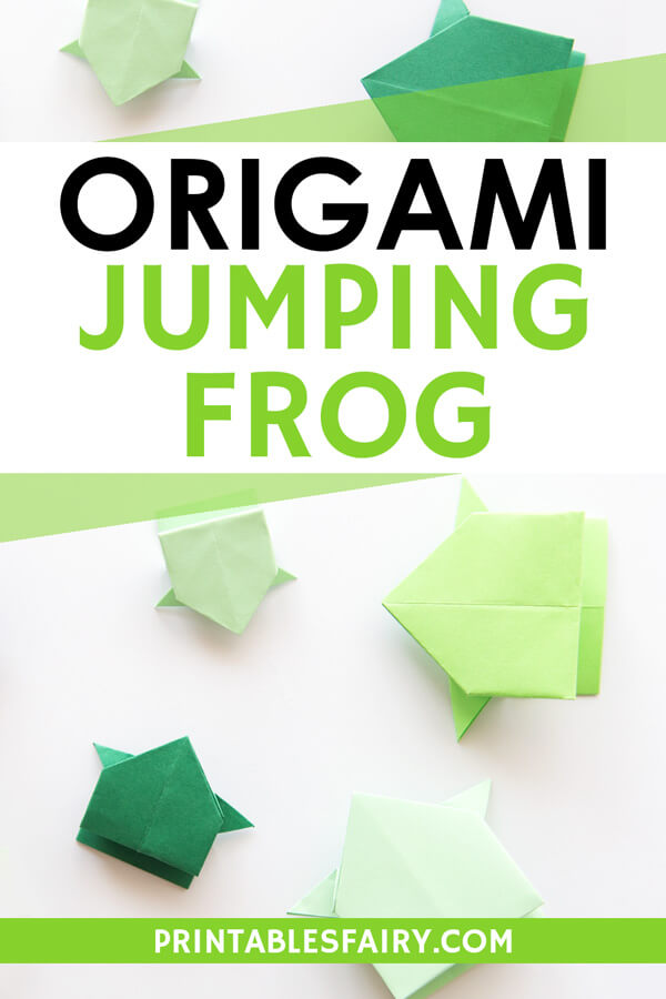 An Origami Jumping Frog for Simon and Luc | Origami frog, Origami ... | 900x600