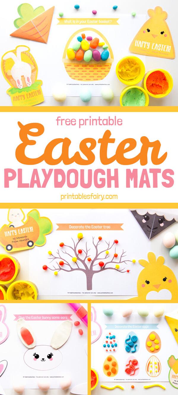 Free Printable Easter Playdough Mats