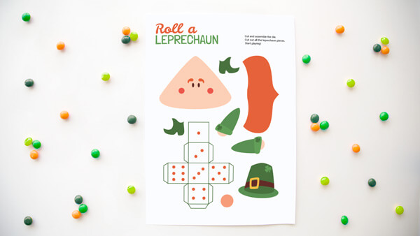 Roll a leprechaun printable