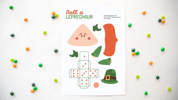 Roll a leprechaun printable