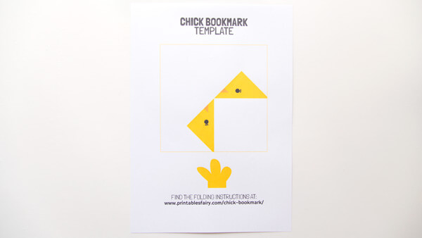 Print chick bookmark template