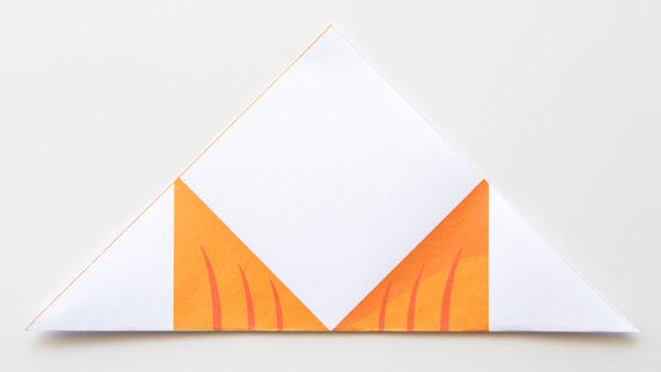 Fold square into a triangle