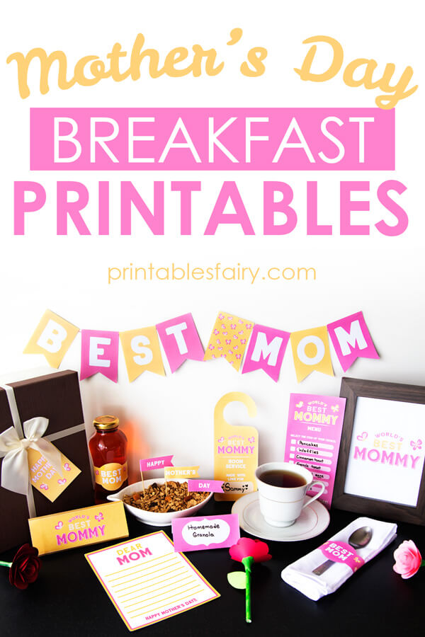 Mother's Day Breakfast Printable Kit