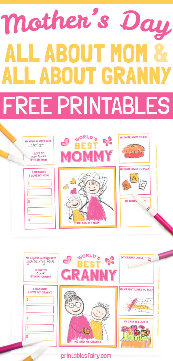 Free Printable Mother's Day Questionnaire
