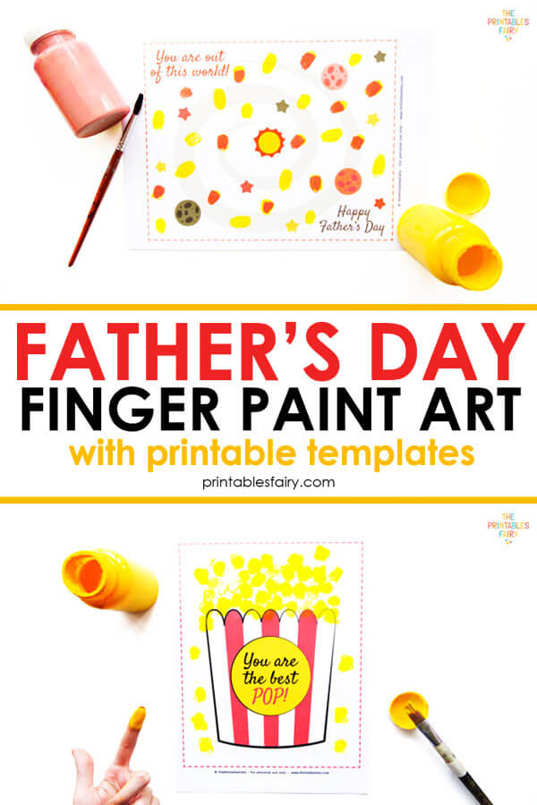 Father's Day Finger Paint art