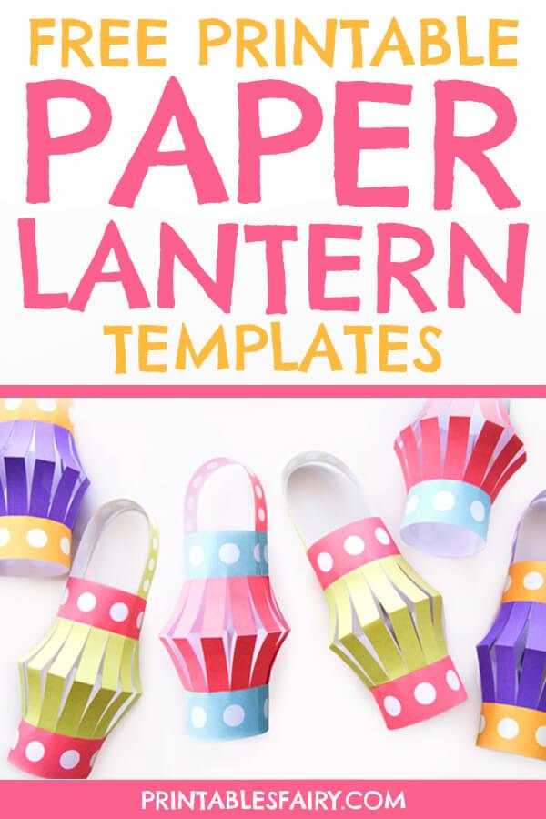 Paper Lantern Printable Templates