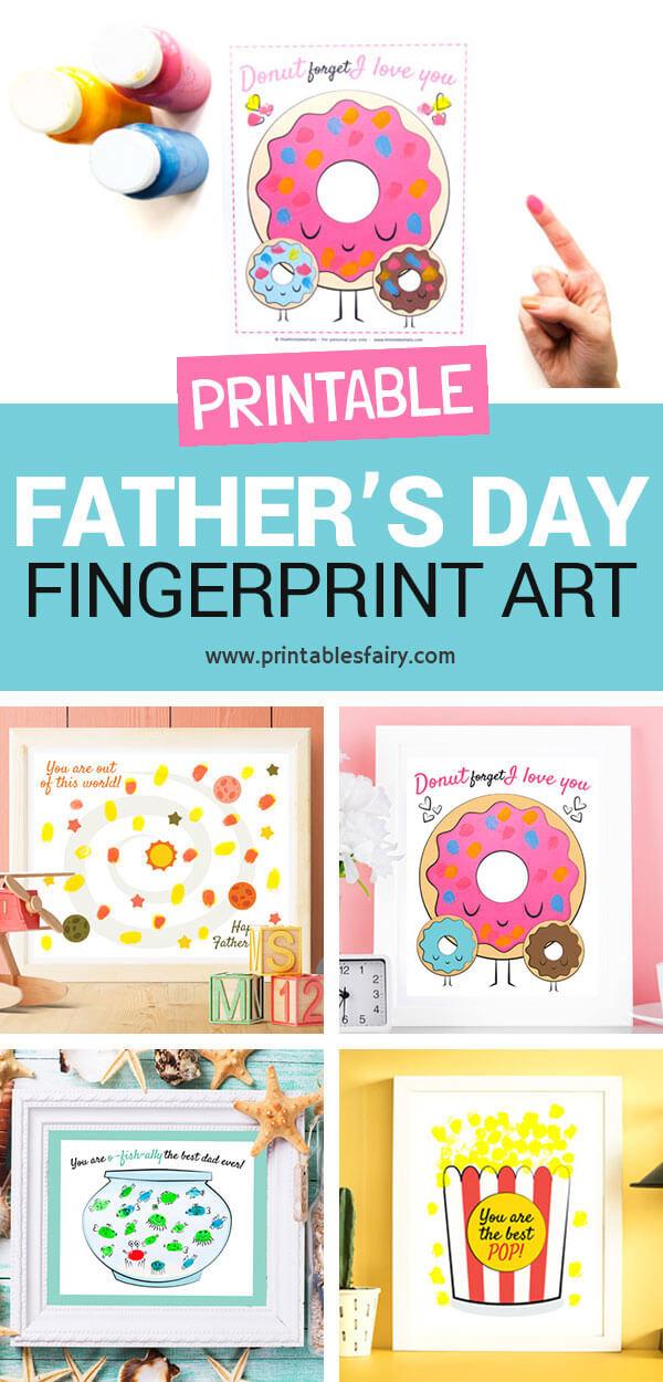 Father's Day Fingerprint Art