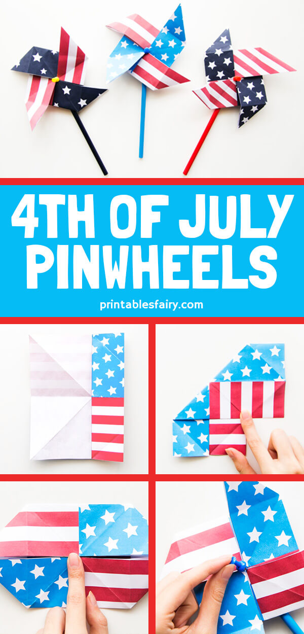 DIY 4th of July Pinwheels