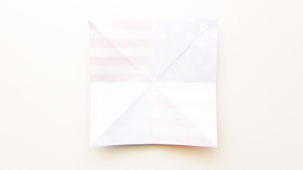 Origami Pinwheel Step 6