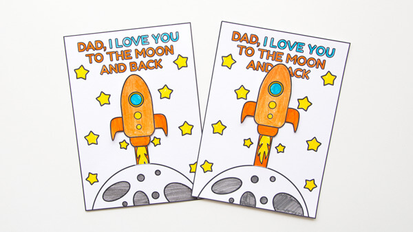 Rocket cards for dad