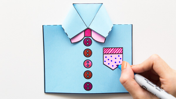 Decorate shirt card
