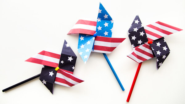 Fourth of July Pinwheels