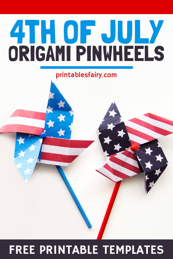 4th of July Origami Pinwheels