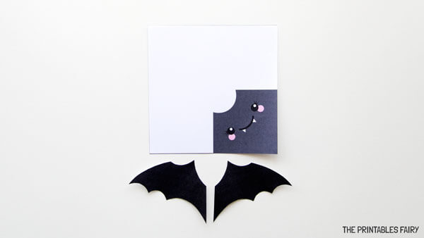 Print and cut bat bookmark template
