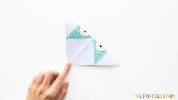 Fold diagonally