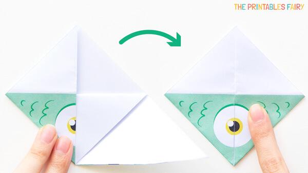 Fold the corners up