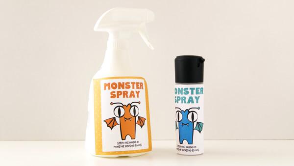 Attach Monster Spray Label
